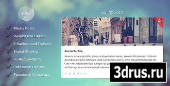 ThemeForest - Quicknote - clean & functional blog
