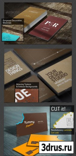 Бизнес карточки - визитки размером - 9x5 cm