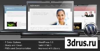 ThemeForest - Advanix - Corporate Business WordPress Theme - RIP (Red)
