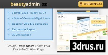 ThemeForest - BeautyAdmin - Responsive Admin Template