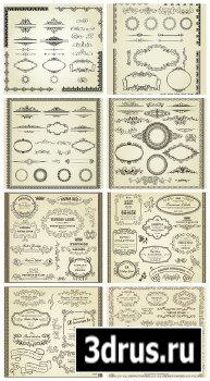 Vintage set of calligraphic elements vector 2013