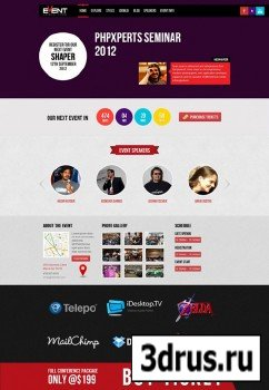 JoomShaper - Shaper Event v1.1.0 - Responsive Event Template For Joomla 2.5