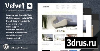 ThemeForest - Velvet v1.1.4 - Minimal Business Theme