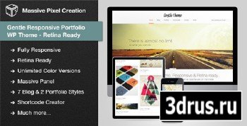 ThemeForest - Gentle Responsive Portfolio WP Theme Retina Ready