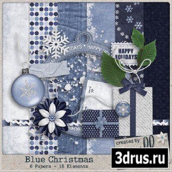 Scrap Set - Blue Christmas