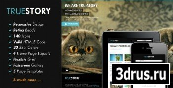 ThemeForest - TrueStory - Fullscreen HTML5 Template