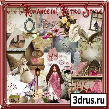 Scrap Set - Romance in Retro Style
