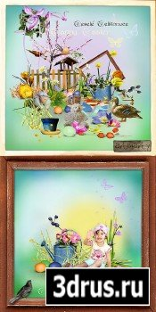 Scrap Set - Easter and Spring PNG and JPG Files