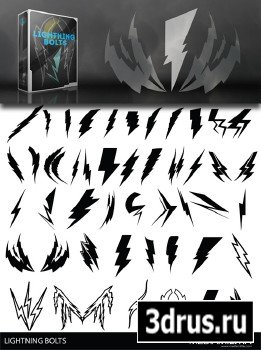 Lightning Bolts EPS Vectors And ABR Brushes