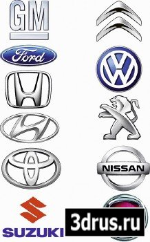 Leading Manufacturers Of Car Logos - Vector Cliparts