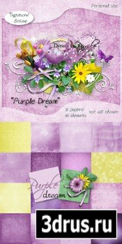 Scrap Set - Purpple Dream PNG and JPG Files