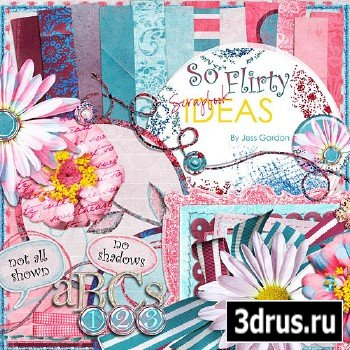 Scrap Set - So Flirty PNG and JPG Files