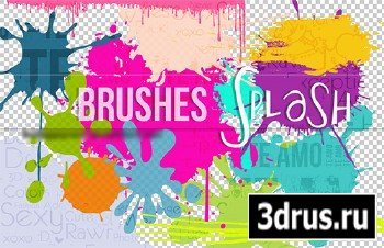 ABR Brushes Set For Adobe Photoshop - Splash
