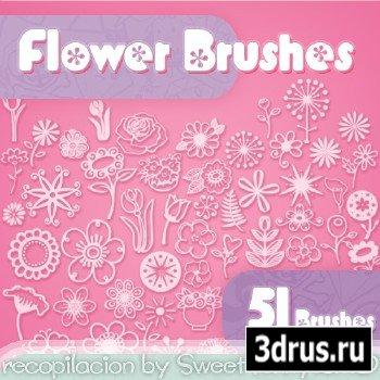 51 Flower Brushes