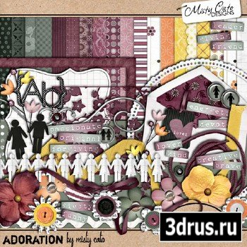 Scrap Set - Adoration PNG and JPG Files