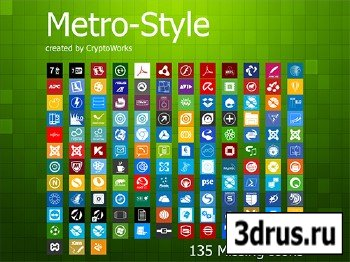 135 Missing Metro-Style Icons Set