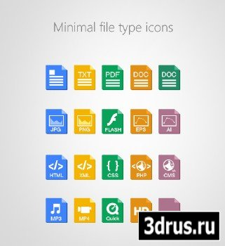 PSD Source - Beautiful Minimal File Type Icons