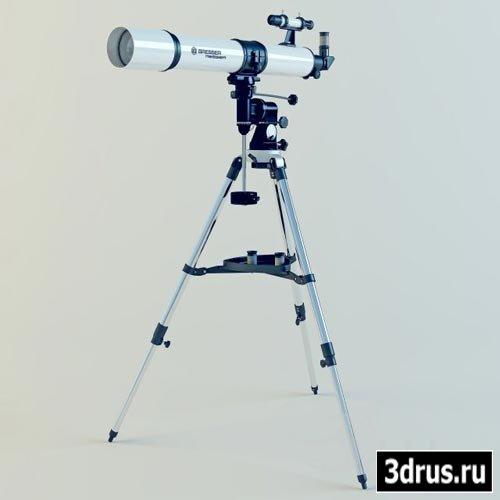 3D модель телескопа Bresser R-80