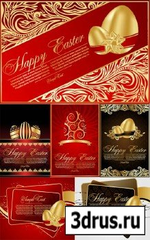 Векторные пасхальные открытки