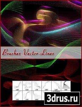 Кисти - Абстрактные векторные линии