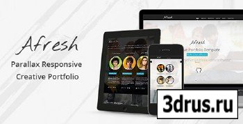 ThemeForest - Afresh - Parallax Responsive Creative Portfolio