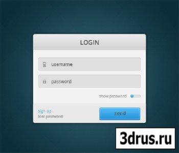 PSD Web Design - White Login Form Box