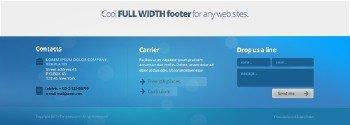 PSD Web Design - Blue Website Footer