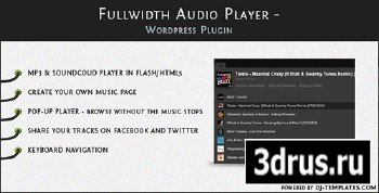 CodeCanyon - Fullwidth Audio Player v1.1.1 - Wordpress plugin