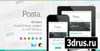 ThemeForest - Posta - Responsive E-mail Template - RIP
