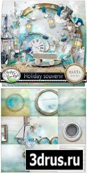 Scrap Set - Holiday Souvenir PNG and JPG Files