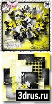 Scrap Set - Yellow Dreams PNG and JPG Files