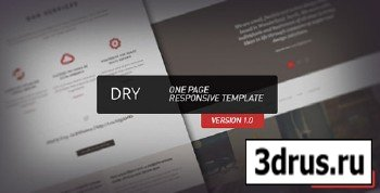 ThemeForest - Dry - One Page Responsive Template - FULL