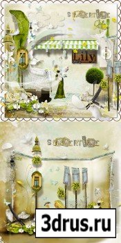 Scrap Set - Summer Time PNG and JPG Files