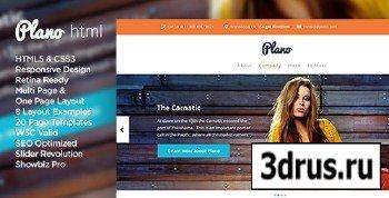 ThemeForest - Plano - Flat Design Responsive HTML5 Template