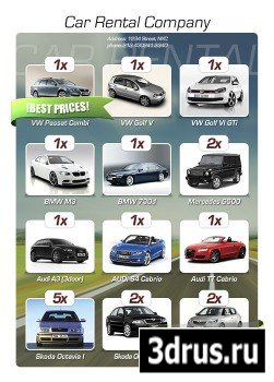 PSD Web Design - Car Rental Flyer
