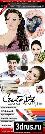 Creative Colored Pencil Drawing - GraphicRiver Add-ons