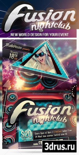 Fusion NightClub - GraphicRiver. PSD
