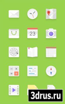 PSD Source - Light Android Icons Set