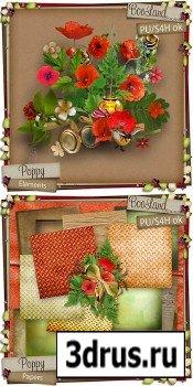 Scrap Set - Poppy PNG and JPG Files