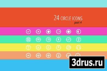 PSD, AI Circle icons - part 4