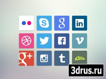 PSD Source - Socials Icons 2013