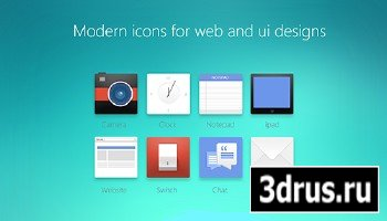 Modern PSD Icons For Web And UI Designs