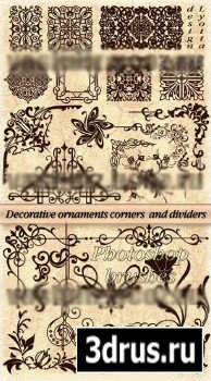 ABR Brushes - Decorative ornaments corners dividers