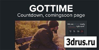 ThemeForest - Got Time - Responsive HTML5 Coming Soon Page - RIP