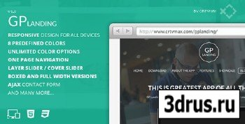 ThemeForest - GP Landing - Responsive One Page Landing Template - RIP