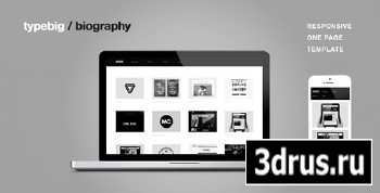 ThemeForest - Biography - Responsive One Page Template - RIP