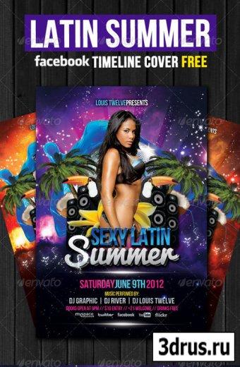 Latin Summer Party Flyer