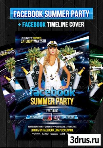 Facebook Summer Party – Flyer + Fb Timeline