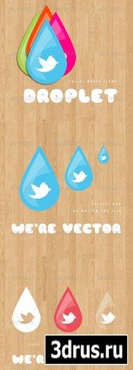 Droplet Social Media Icons