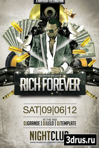 Rich Forever Party Flayer